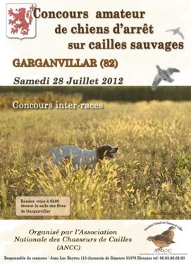 Affiche concours cailles 2012