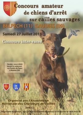 Affiche concours cailles 2013